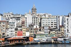 Galata Tower in Istanbul Turkey stock photo