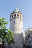 Galata Tower in Istanbul Turkey royalty free stock images