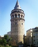 Galata tower in Istanbul. Galata tower view in Istanbul Royalty Free Stock Image