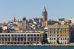 Galata Tower and Karakoy Royalty Free Stock Photo