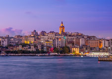 Galata Tower. Look throw the Golden Horn Stock Image
