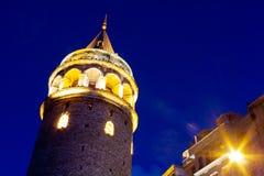 Galata Tower. Night. Istanbul, Turkey Royalty Free Stock Image