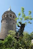 Galata Tower. The Galata Tower one of the sights of Istanbul, Turkey stock image