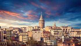 The Galata tower Royalty Free Stock Images