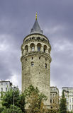 Galata Tower. The Galata Tower was built in 528 ad by Byzantium emperor Justinianus. 61 meter tall, 8.95 m. diameter and wall thickness of 3.75 meters Royalty Free Stock Photo