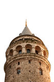 Galata Tower ,  on white Stock Images
