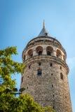 Galata-Turm (Galata Kulesi) in Istanbul, die Türkei Lizenzfreies Stockbild