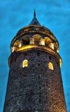 Galata-Turm HDR-Nacht Lizenzfreies Stockbild