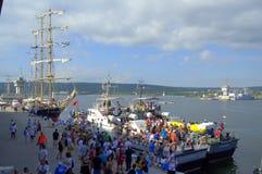 Galata-Varna marathon contestants at the Port Stock Image