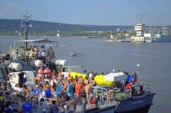 Galata-Varna marathon contestants at the Port Stock Photos
