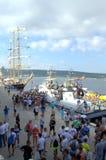 Galata-Varna marathon contestants at the Port Stock Photography