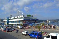 Galata-Varna marathoners- Varna Maritime station Stock Image