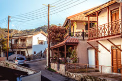 Galata village street. Nicosia District, Cyprus Stock Photo