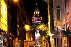 Galata wierza, Beyoglu, Istanbuł obraz stock