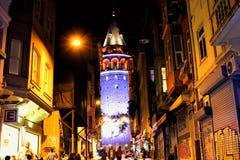 Galata wierza, Beyoglu Istanbuł Dziejowy fotografia stock
