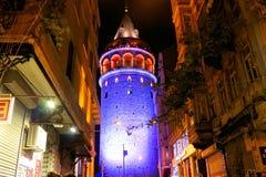 Galata wierza, Beyoglu Istanbuł Dziejowy obrazy stock