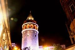 Galata wierza, Beyoglu, Istanbuł Turcja zdjęcia royalty free