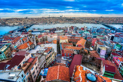 Galata wierza, Istanbuł, Turcja. Zdjęcia Stock