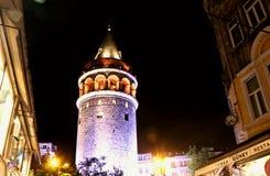 Galata wierza, Istanbuł Beyoglu zdjęcie royalty free