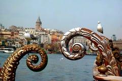 Galata wierza od Istanbuł Turcja Obrazy Royalty Free
