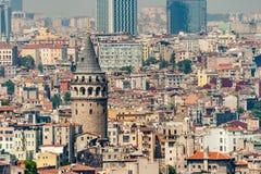 Galata wierza w Istanbuł Turcja, Robić genueńczykiem Fotografia Royalty Free