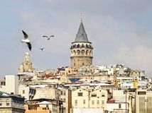 Galata in winter Stock Image