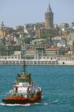 galataistanbul torn kalkon Fotografering för Bildbyråer