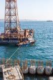 Galataport cruise port construction, Istanbul, Turkey. ISTANBUL, TURKEY, 4 MARCH 2017 - Istanbul's new Galataport cruise port construction process with labour Stock Photography