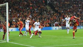 Galatasaray FC -曼联足球俱乐部FC 库存照片