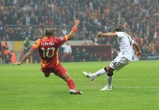 Galatasaray FC -曼联足球俱乐部FC 库存图片