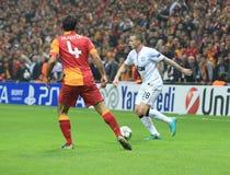 Galatasaray FC -曼联足球俱乐部FC 免版税库存图片