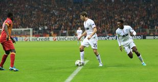 Galatasaray FC - Manchester United FC royaltyfri fotografi