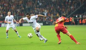 Galatasaray FC - Manchester United FC Royalty Free Stock Photography