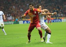 Galatasaray FC - Manchester United FC fotografering för bildbyråer