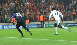 Galatasaray FC - Manchester United FC arkivfoto