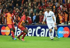 Galatasaray FC - Manchester United FC Stock Photo