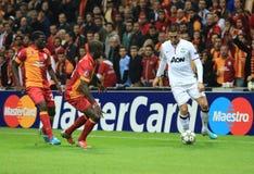 Galatasaray FC - Manchester United FC Arkivfoto
