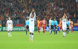 Galatasaray FC - Manchester United FC Royalty Free Stock Images