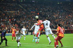 Galatasaray FC - Manchester United FC Images stock