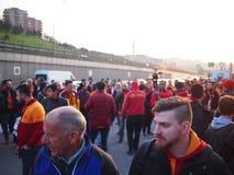 Galatasaray Fenerbahce bombarderar hot Royaltyfri Fotografi
