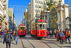 The Galatasaray High School tram station Stock Images