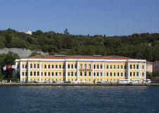 Galatasaray University viewed from the Bosphorus Royalty Free Stock Photography