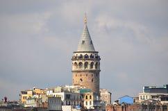 Galatatoren, de meningen van Istanboel Stock Foto's