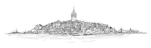 Galatatoren - Istanboel Vector Illustratie