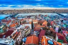 Galatatoren, Istanboel, Turkije. stock foto's