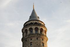 Galatatoren Kule Istanboel Turkije Royalty-vrije Stock Foto's