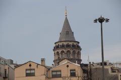 Galatatoren van de tijden van Byzantium in Istanboel royalty-vrije stock fotografie