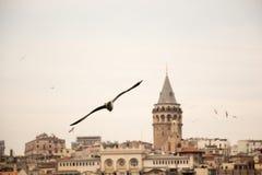 Galatatoren van de tijden van Byzantium in Istanboel royalty-vrije stock afbeeldingen