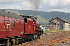 Galatea steam train with Fellsman, Kirkby Stephen Royalty Free Stock Image