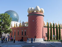 Galatea Tower and the glass dome of the theater-museum Royalty Free Stock Photography